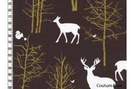Tissu Timber Valley chocolat dans MICHAEL MILLER par Couture et Cie