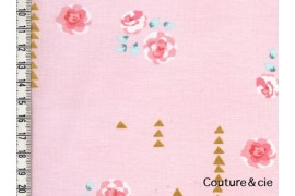 Tissu Rosemilk rose camée