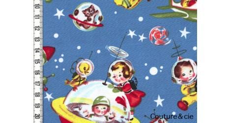 Tissu Retro Rocket Rascals, coupon 66x110cm dans MICHAEL MILLER par Couture et Cie