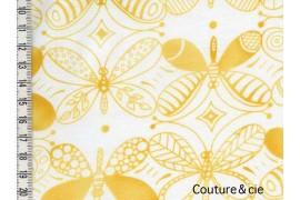 Tissu Papillons jaunes