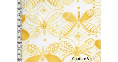Tissu Papillons jaunes dans MICHAEL MILLER par Couture et Cie