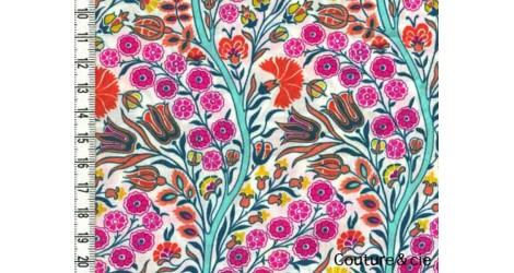 Tissu Liberty Isabel Susan rose dans Batistes Tana Lawn par Couture et Cie