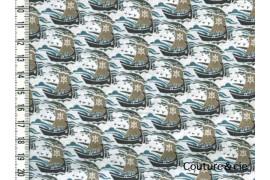 Tissu Liberty Samols gris dans Batistes Tana Lawn par Couture et Cie