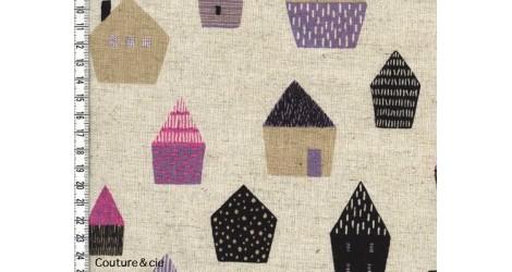 Tissu Maisons dans TISSUS JAPONAIS par Couture et Cie