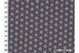 Tissu japonais Asanoha Navy blue, coupon 57*110cm