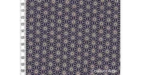 Tissu japonais Asanoha Navy blue dans Motifs traditionnels par Couture et Cie