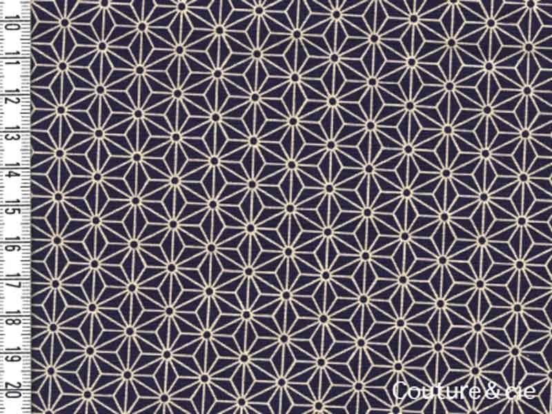 Tissu Sevenberry Asanoha Navy blue