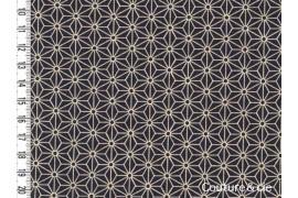 Tissu Asanoha gris foncé