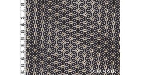 Tissu Asanoha gris foncé dans Motifs traditionnels par Couture et Cie