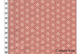Tissu Asanoha rose
