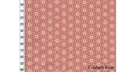 Tissu Asanoha rose dans Motifs traditionnels par Couture et Cie
