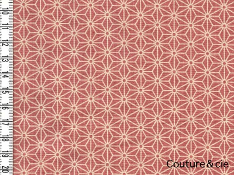 Tissu Sevenberry Asanoha rose