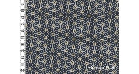 Tissu Asanoha Medium blue dans Motifs traditionnels par Couture et Cie