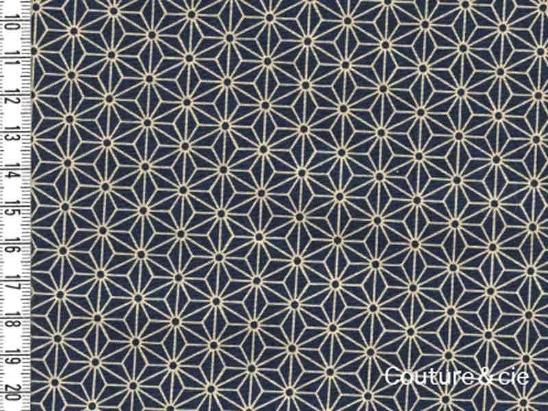Tissu Sevenberry Asanoha Medium blue
