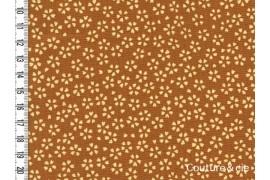 Tissu Sakura moutarde