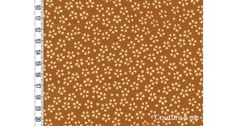 Tissu Sakura moutarde dans Motifs traditionnels par Couture et Cie