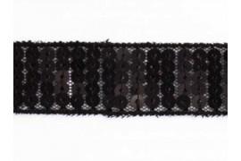 Galon Paillettes rondes noir dans Rubans paillettes par Couture et Cie