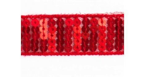 Galon Paillettes rondes rouge dans Rubans paillettes par Couture et Cie
