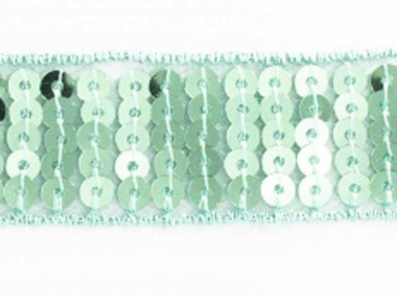 Ruban Paillettes rondes vert d'eau