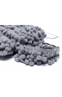 Galon pompons gris 18mm