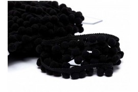 Galon pompons noir 18mm