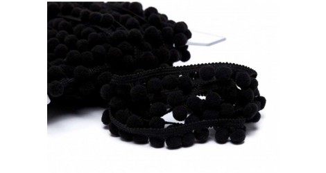 Galon pompons noir 18mm dans Galons pompons par Couture et Cie