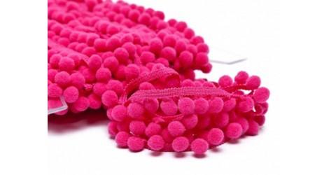 Galon pompons rose fushia 18 mm dans Galons pompons par Couture et Cie