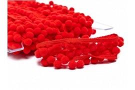Galon pompon rouge 18mm