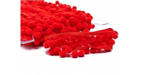 Galon pompon rouge 18mm dans Galons pompons par Couture et Cie