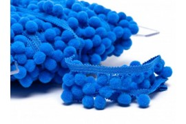 Galon pompon bleu roy 18mm