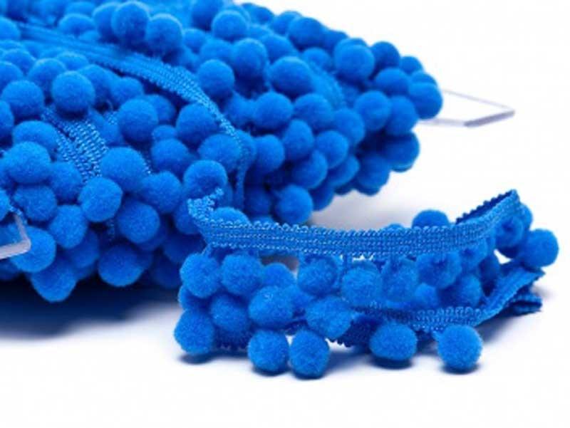 Galon pompon-bleu roy 18mm