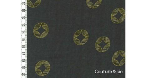 Tissu Ellen Baker Monochrome dans Kokka par Couture et Cie