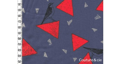 Tissu Echino Fragments bleu gris dans Echino par Couture et Cie