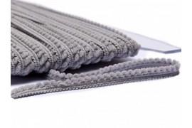 Galon Petits pompons gris, morceau 65cm