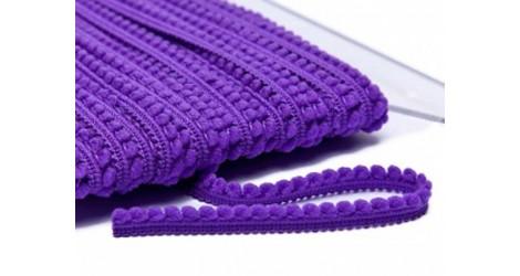 Galon Petits pompons violet dans Galons pompons par Couture et Cie
