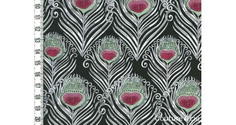 Tissu Liberty Caesar noir dans Batistes Tana Lawn par Couture et Cie