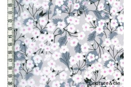 Tissu Liberty Mitsi gris clair coupon 107cm*137cm
