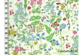 Tissu Liberty Field Flowers vert
