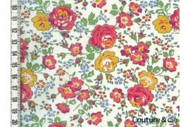 Tissu Liberty Félicité orangé dans Batistes Tana Lawn par Couture et Cie