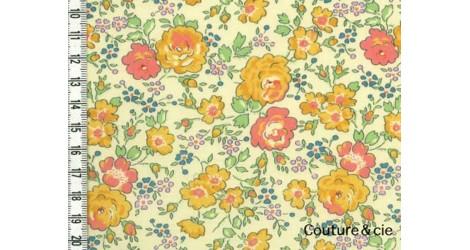 Tissu Liberty Félicité jaune dans Batistes Tana Lawn par Couture et Cie