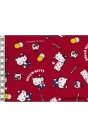 Tissu Hello Kitty okashi rouge