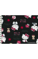 Tissu Hello Kitty bear noir