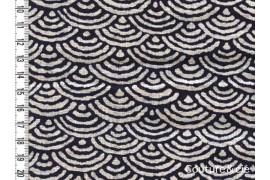 Tissu Seikaiha indigo, coupon 97*110cm