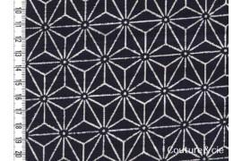 Tissu Asanoha bleu indigo
