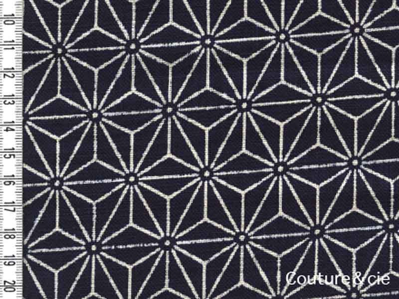 Tissu Sevenberry Asanoha bleu indigo