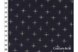 Tissu bleu indigo Juujimonyou