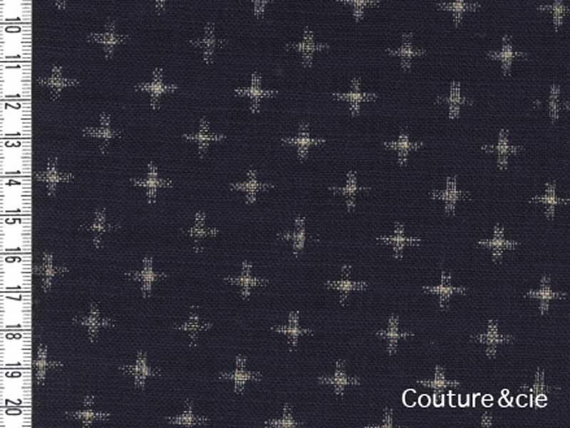 Tissu Japonais Sevenberry croix