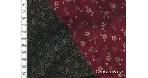 Tissu double face Sakura/Asanoha dans Motifs traditionnels par Couture et Cie