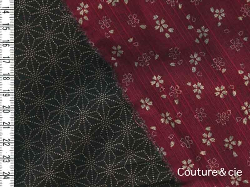 Tissu double face Sakura/Asanoha