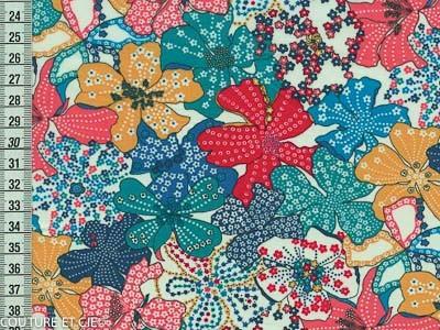 Tissu Liberty Mauvey turquoise